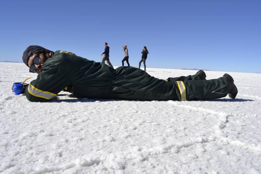 Tipiche foto sul Salar di Uyuni in Bolivia