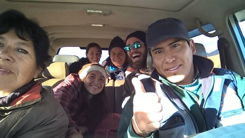 Il nostro gruppo per il tour al Salar di Uyuni in Bolivia