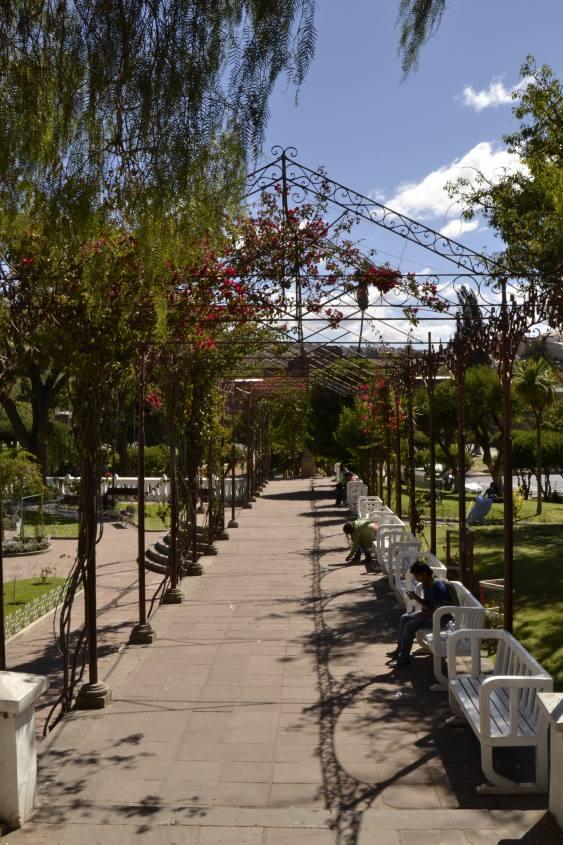 Parco Bolivar nel centro di Sucre in Bolivia