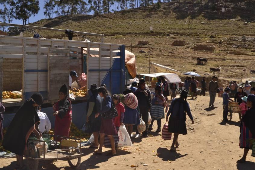 Esterno del Mercato di Tarabuco vicino Sucre in Bolivia