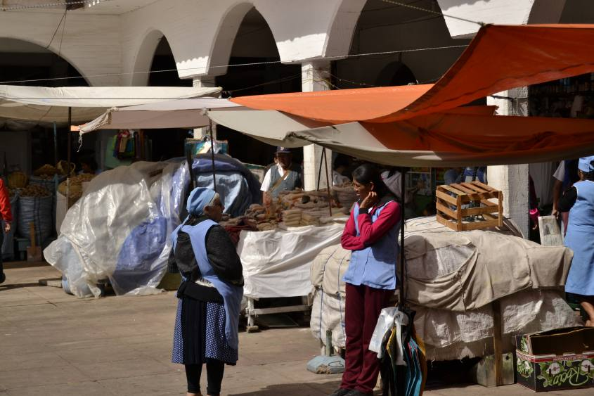 Mercato Centrale della città di Sucre in Bolivia