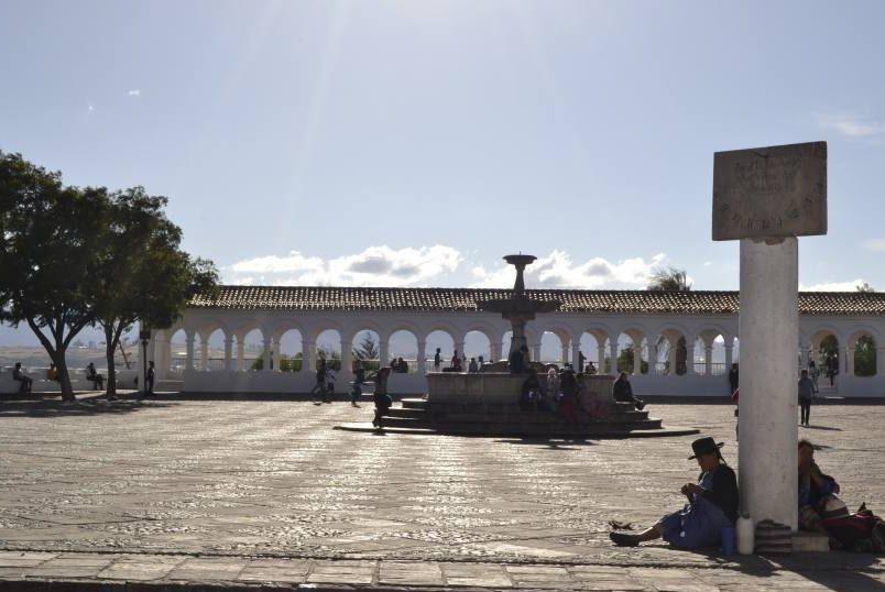 Punto panoramico Piazza Recoleta a Sucre in Bolivia
