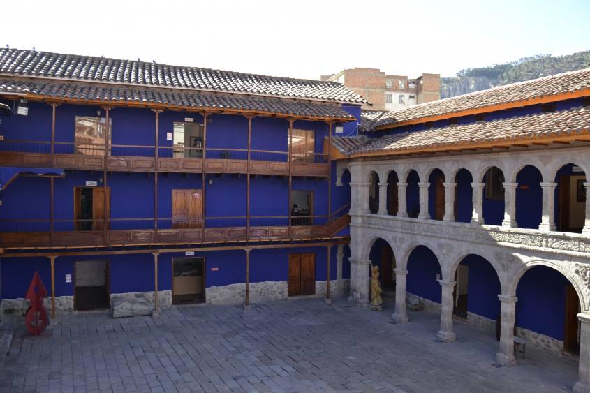 Corte interna del Museo Tambo Quirquincho di La Paz in Bolivia