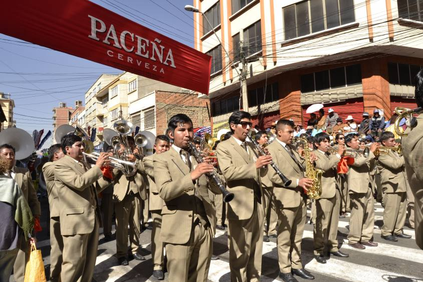 """Orchestra per il patrono di La Paz """"El Gran Poder"""" in Bolivia"""