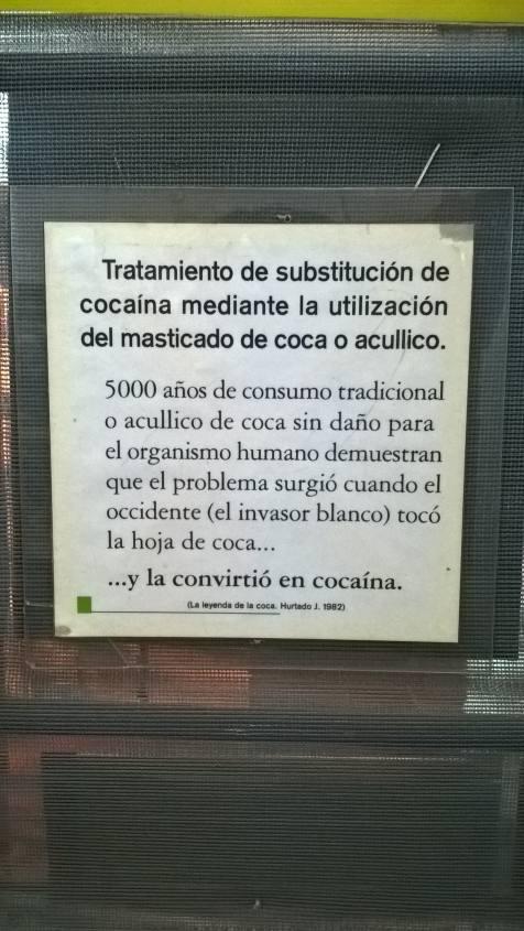 Storia delle foglie di coca e della cocaina al Museo della Coca di La Paz in Bolivia