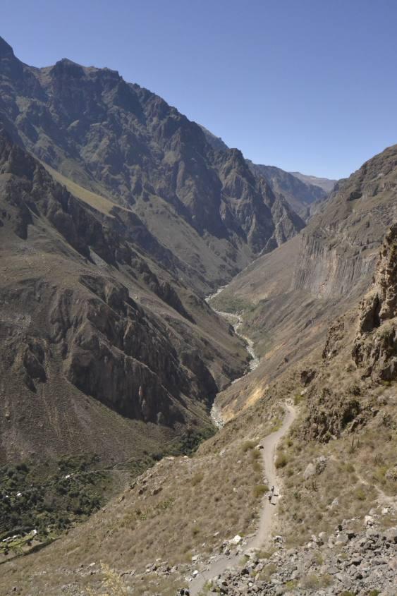 vista del percorso all'interno del Canyon del Colca