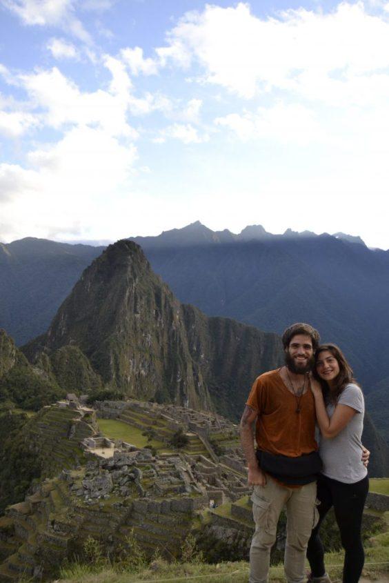 Noi e la classica foto a Machu Picchu