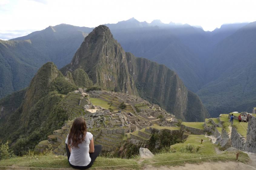Fiammetta e la tipica foto di Machu Picchu