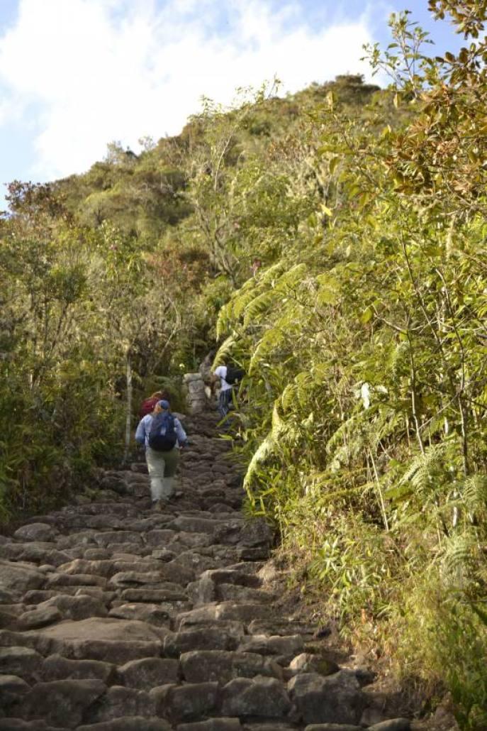 Verso la montagna Machu Picchu