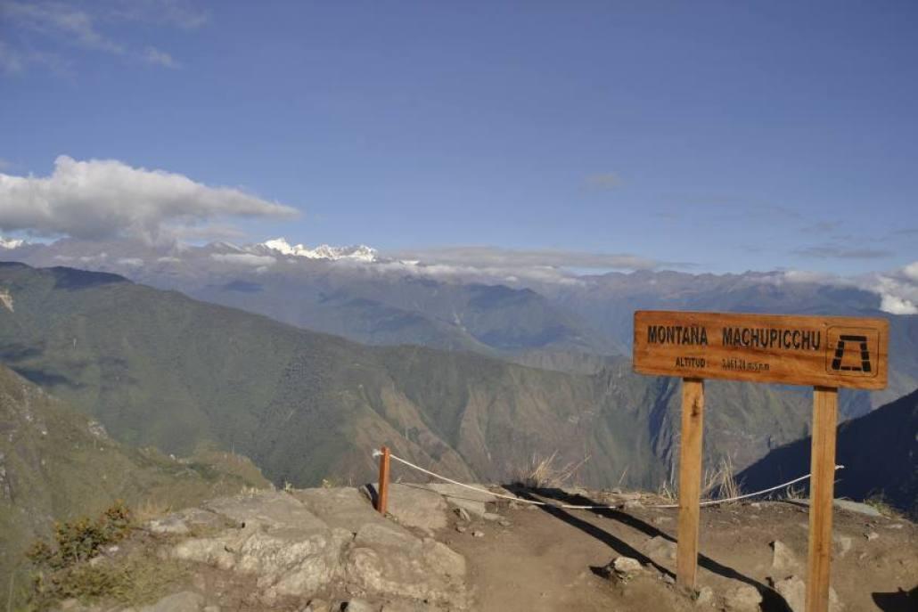 La cima della montagna Machu Picchu