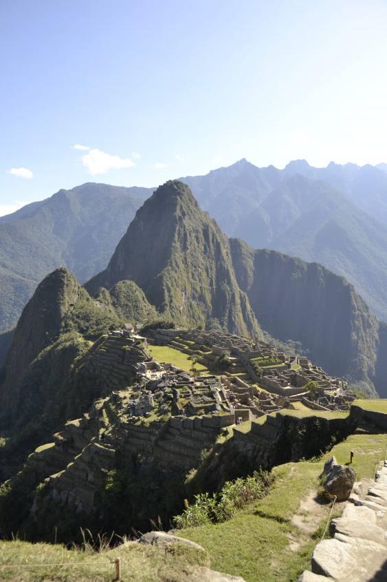 Classica foto con vista di Machu Picchu in Perù