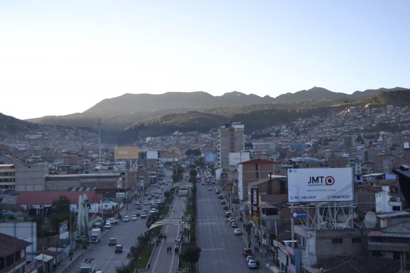 Vista da Pachacutec, la statua Inca di Cusco