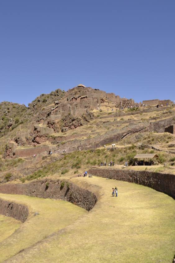 Terrazzamenti di Pisaq durante il tour del Valle Sagrado da Cusco