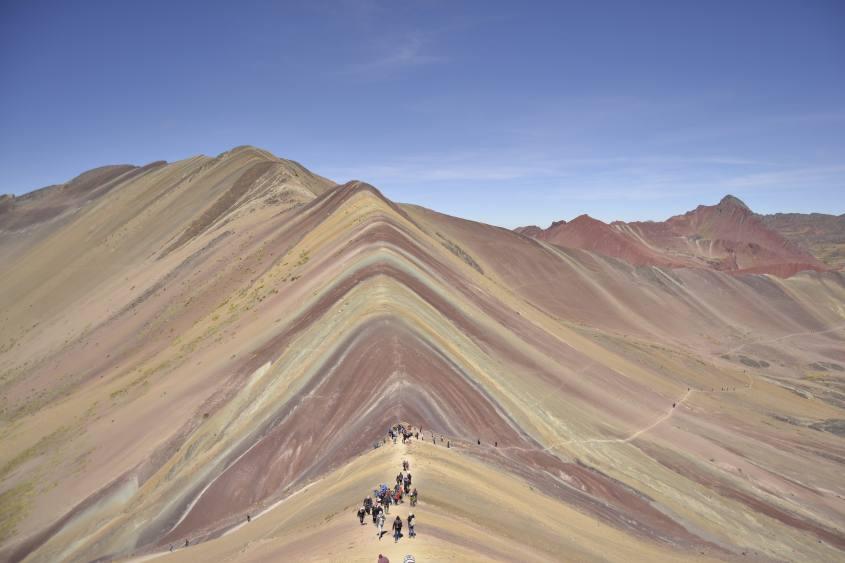 I mille colori della Montagna Arcoiris o Vinicunca o Colorada vicino Cusco