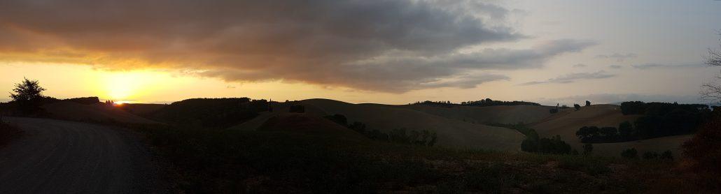 Alba Val d'Orcia Via Francigena