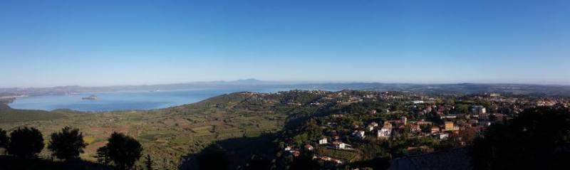 Vista Montefiascone dal Giardino della Rocca dei Papi