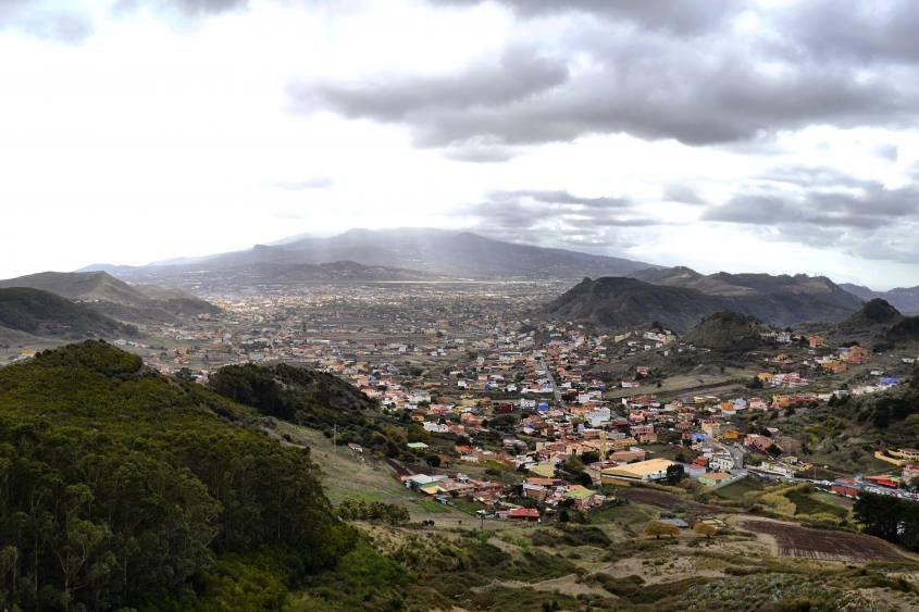 Panorama percorrendo la strada per Taganana dal Monte de las Mercedes