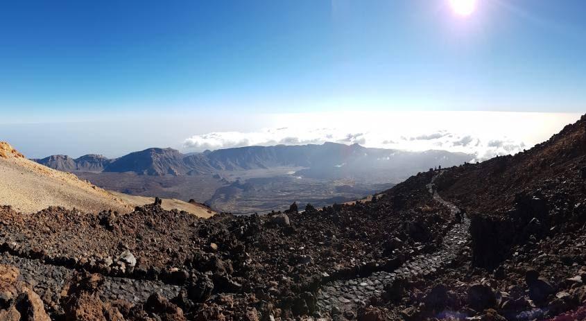 Percorso sul vulcano Teide a Tenerife