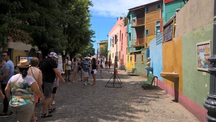 El Caminito al quartiere La Boca a Buenos Aires Argentina