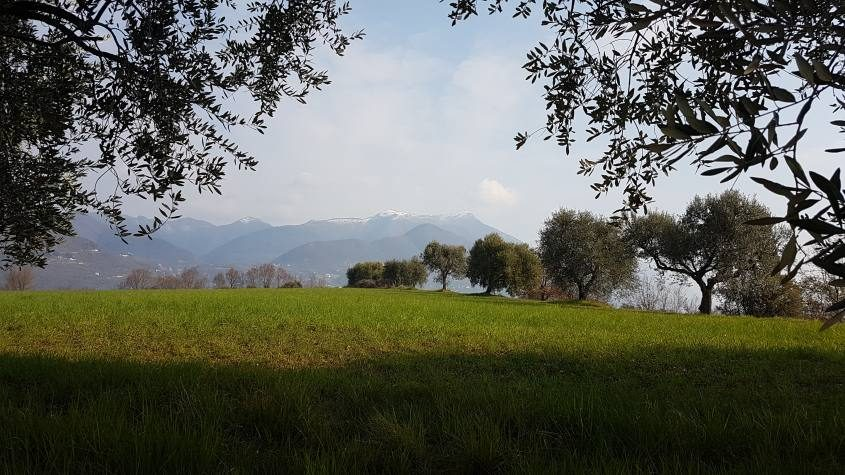 Paesaggio del trekking da San Felice a Gargnano sul Lago di Garda