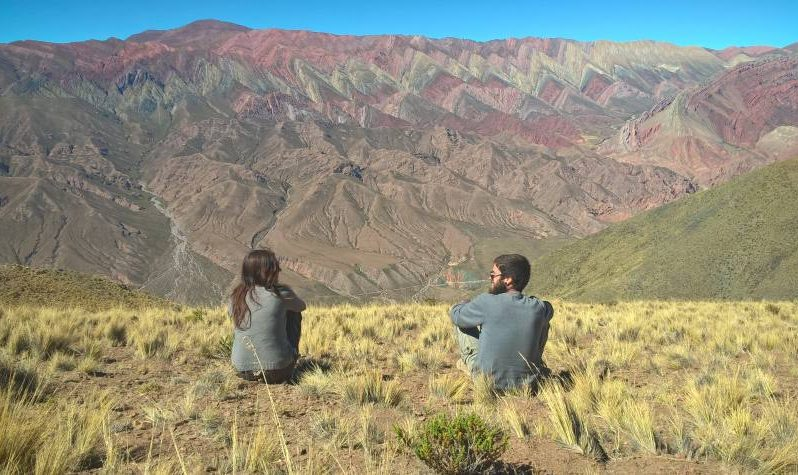 Montagna colorata Hornocal in Argentina vicino Salta