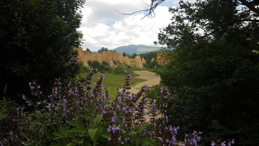 Punto panoramico de Le Balze del Valdarno dal Podere Castellina nel sentiero CAI n°51