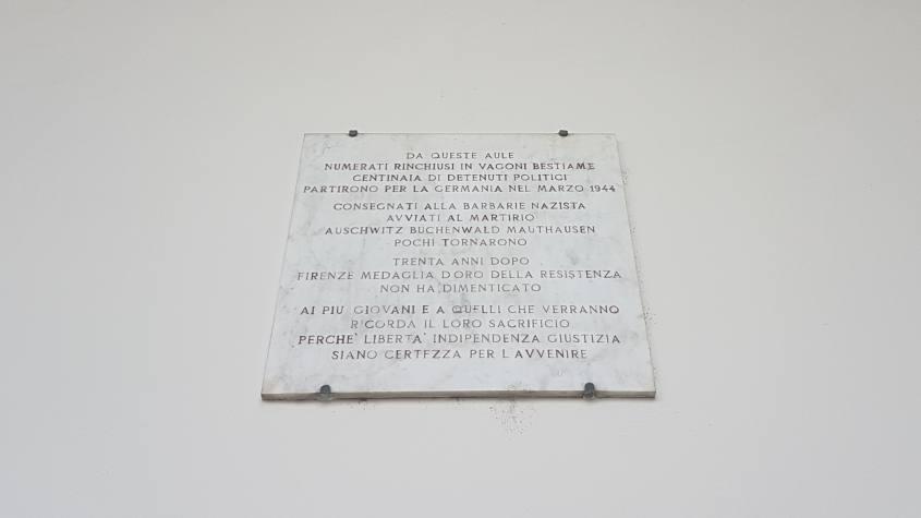 Targa a Firenze per i deportati ai campi di concentramento