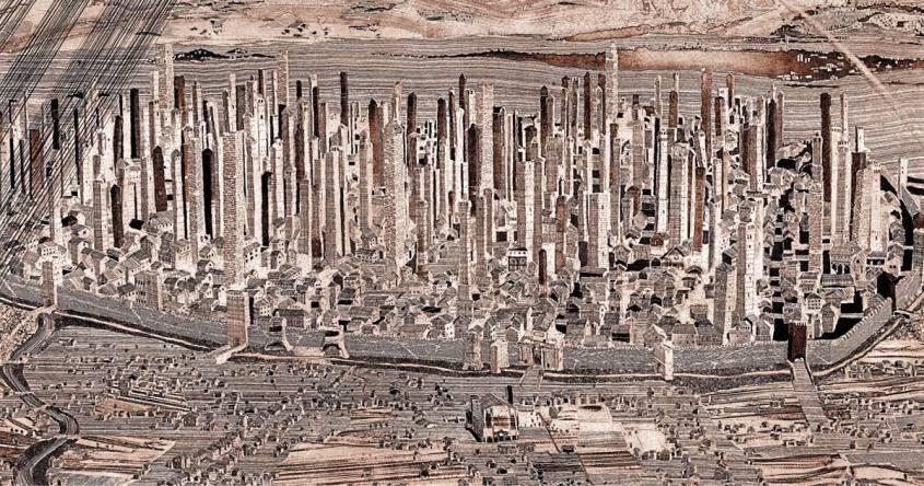 Le cento torri di Bologna vista nel Medioevo