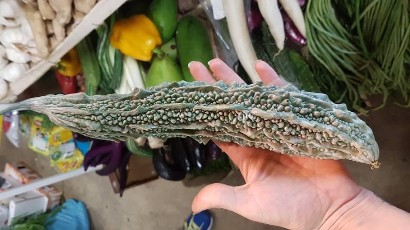 Zucca amara dello Sri Lanka nel mercato di San Lorenzo a Firenze