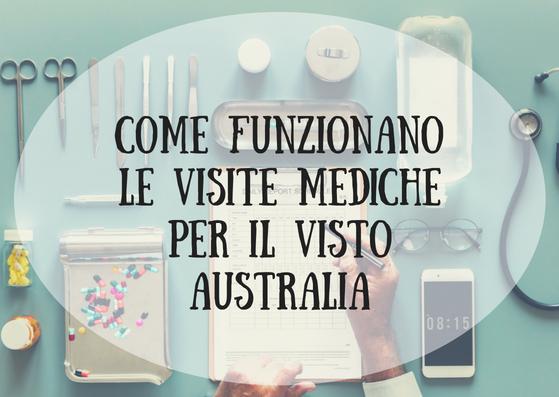 Come funzionano le VISITE MEDICHE per il Visto Australia