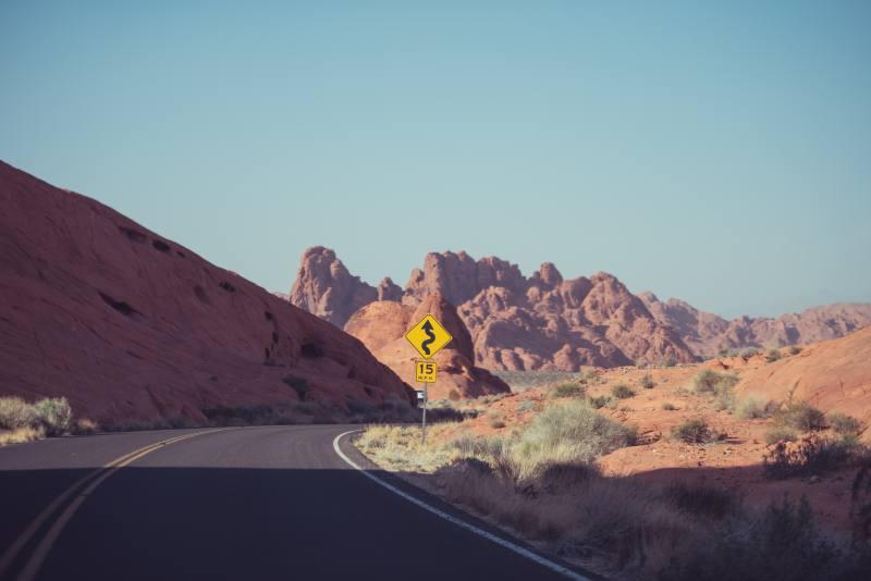Tipica strada deserta in Australia