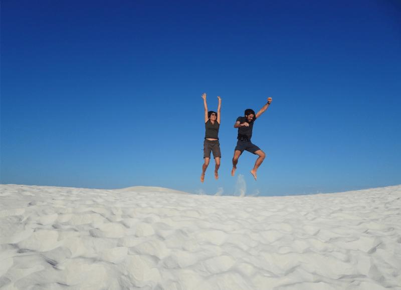 Duna di sabbia nel deserto di Lancelin a Perth