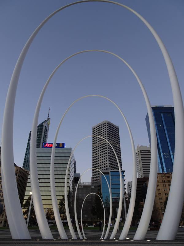 Installazione Spanda a Elizabeth Quay a Perth