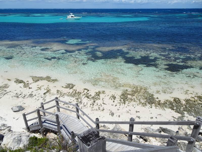Spiaggia di Salmon Bay a Rottnest Island a Perth