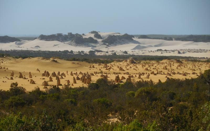 Deserto dei Pinnacoli visto dall'alto in Western Australia