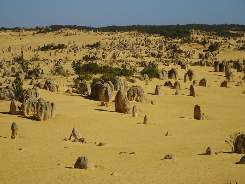 Deserto dei Pinnacoli visto dall'alto