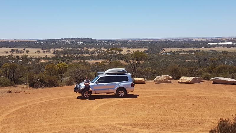 Punto panoramico sulla città di Corrigin sulla strada tra Perth e Wave Rock
