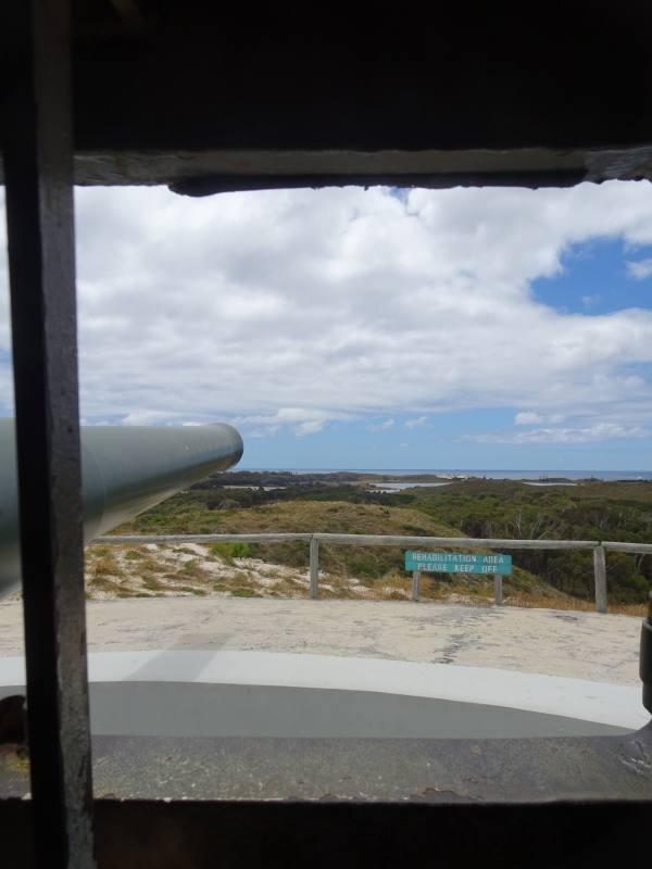 Cannone da guerra Oliver Hill Guns a Rottnest Island