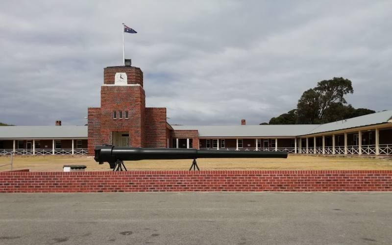 Vecchia accademia militare di Kingstown Barraks a Rottnest Island