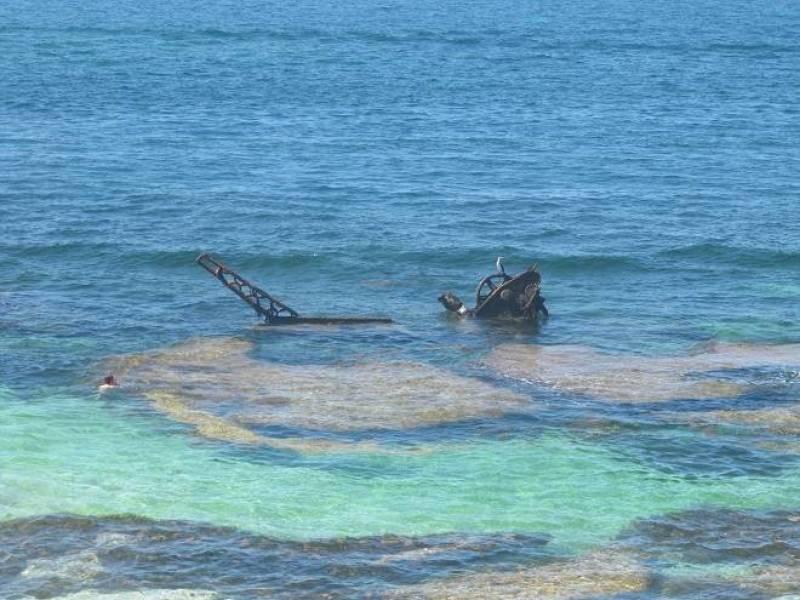 Relitto nave The Shark alla spiaggia di Henrietta Rocks a Rottnest Island