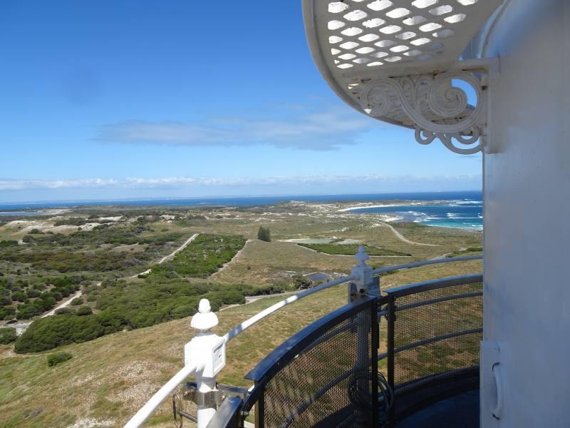 Vista a 360° dalla cima del faro Wadjemup Lighthouse su Rottnest Island