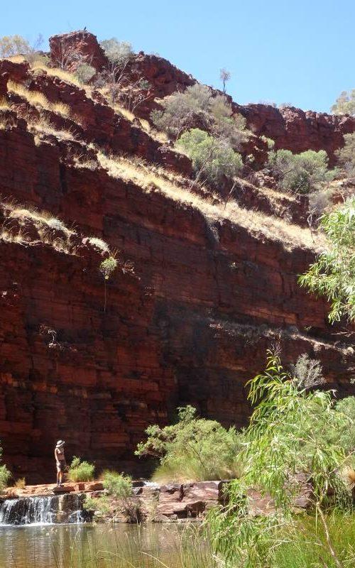 Percorso trekking all'interno del Dales Gorge nel Parco di Karijini