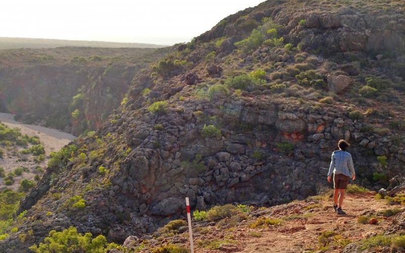 Risalita del trekking Mandu Mandu Gorge all'interno del Parco Nazionale Cape Range in Western Australia