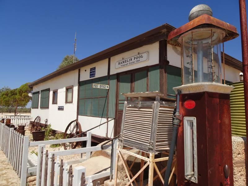 Museo del telegrafo di Hamelin Pool a Shark Bay in Western Australia