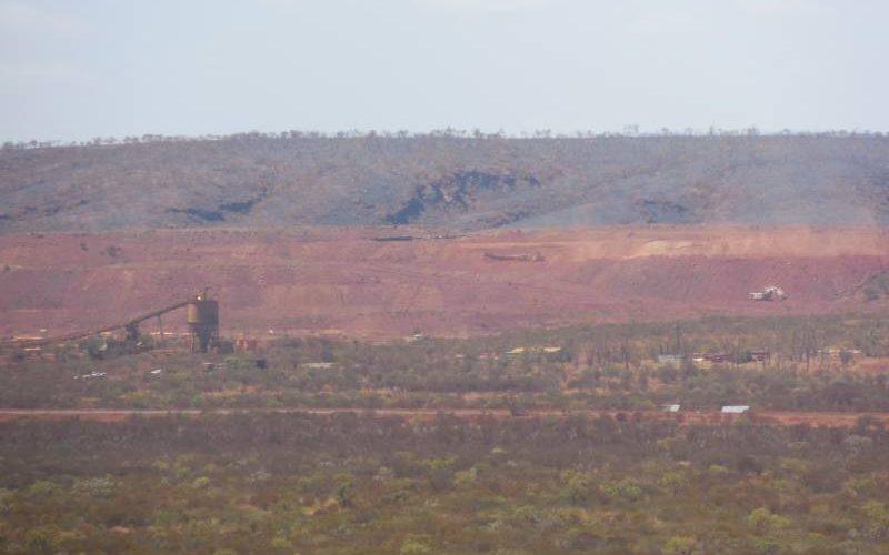 Vista della miniera Marandoo dal punto panoramico del Mount Bruce al Parco di Karijini