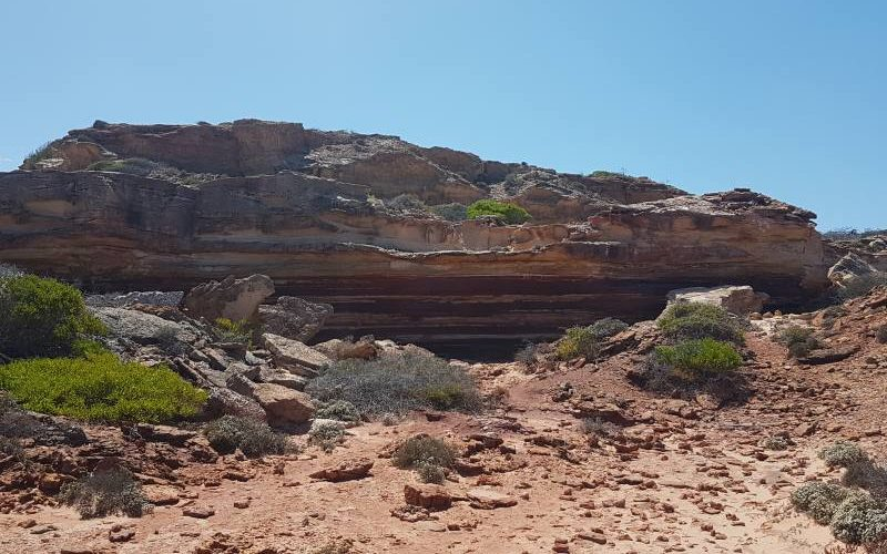 Percorso costiero della Rainbow Valley, la valle arcobaleno del Parco Nazionale Kalbarri in Western Australia