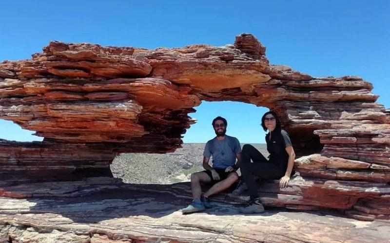 Punto panoramico Nature's Windows, la finestra di roccia del Parco Nazionale di Kalbarri in Western Australia