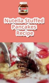 Nutella Stuffed Pancakes - Recipe