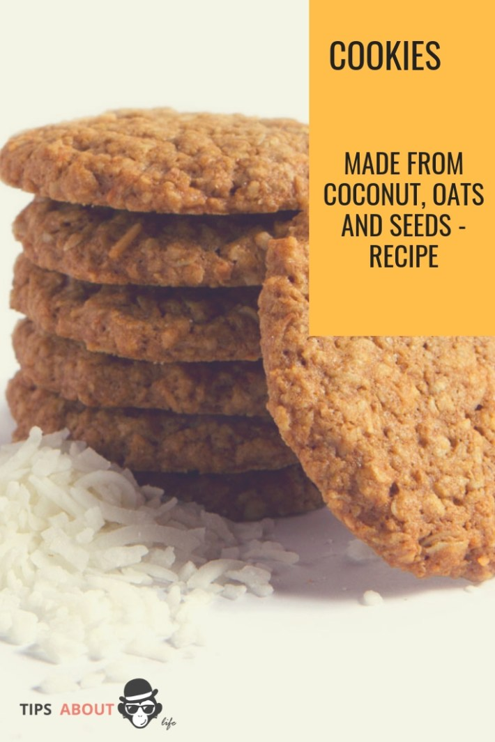 Cookies Made From Coconut, Oats And Seeds - Recipe