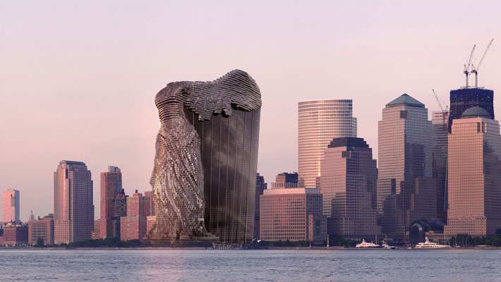 This Winged Waterfront Skyscraper Was Inspired By An Ancient Statue